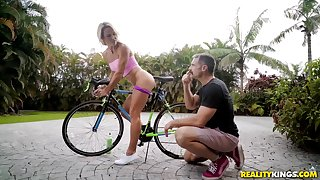 Charles Dera fucked blonde MILF ourdoors and in his residence