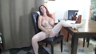 Mature In Stockings With Chunky Tits