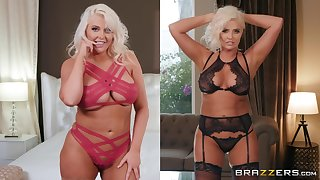Bombshell MILF babes Karissa Shannon and Kristina Shannon share a blarney