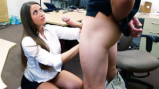 Shoplifter brunette gets fucked in the back be advisable for a pawn shop