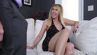 Mature unreserved Erica Lauren finally gets to taste his delicious dick