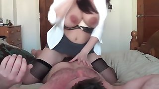 Busty russian milf ride on cock