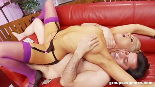Wild cock sharing porn scenes for two milfs