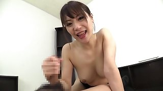 Nice oriental mom giving a handjob